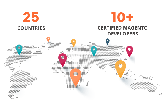 25+ countries magento development company