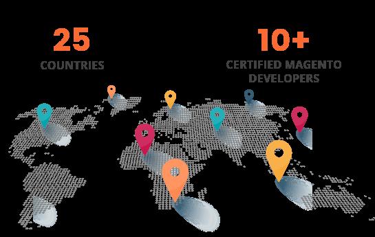 25+ countries magento development company