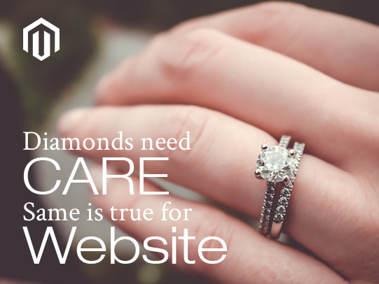 Diamonds need care, same is true for website
