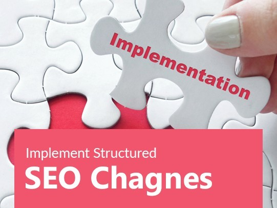 Implement structured SEO changes