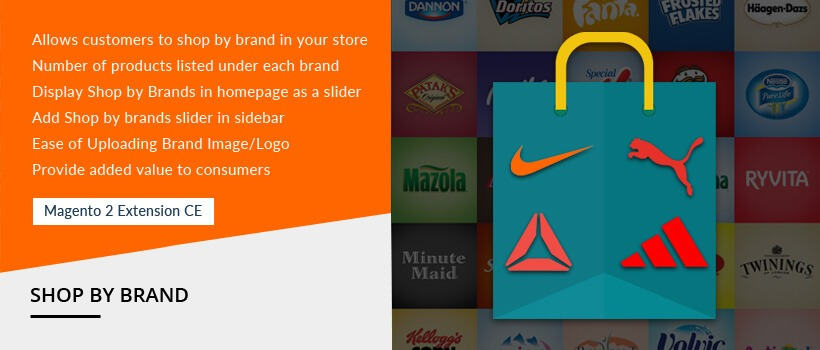 magento shop by brand extension development