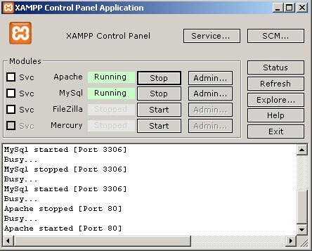 start xampp lite server 1