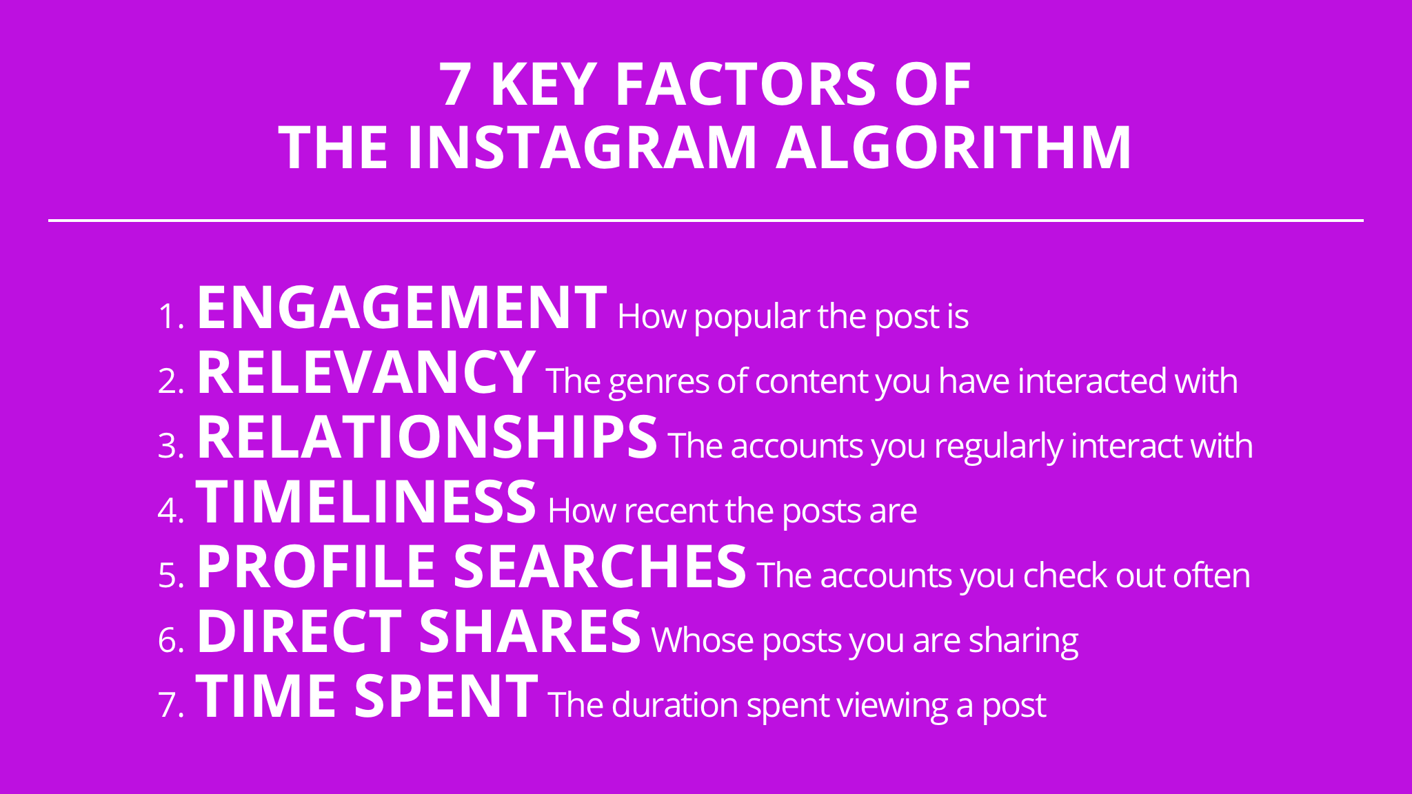 the key factors of instagram algorithm