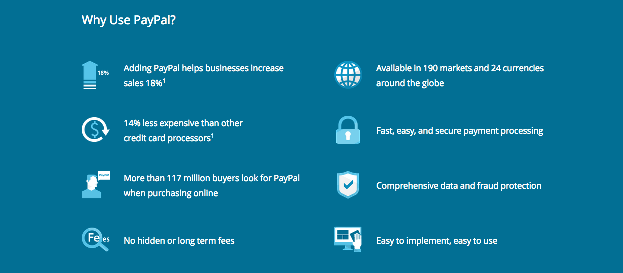 why use paypal & benefits of paypal