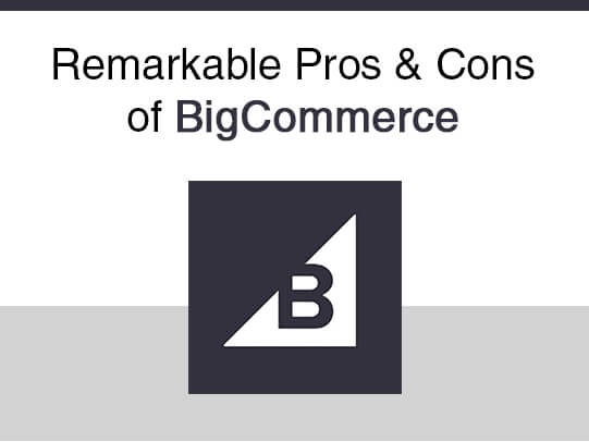 Remarkable Pros & Cons of BigCommerce
