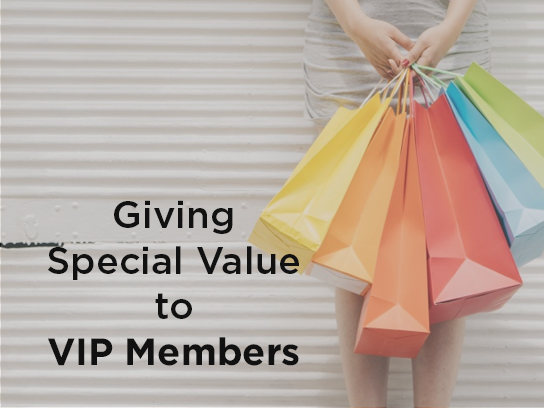 giving special value to vip member