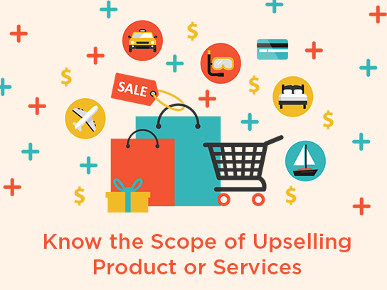 know the scope of upselling product or services