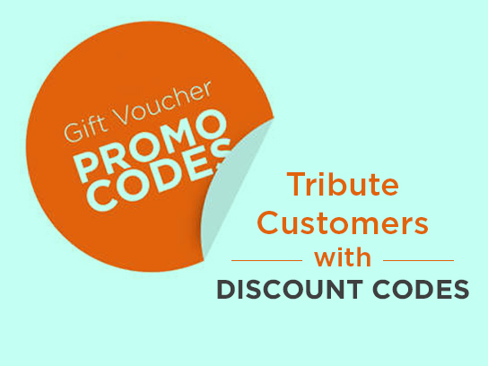 tribute customers with discount codes gift vouchers