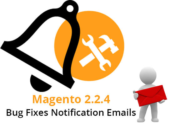 Magento 2.2.4 Bug Fixes Notification Emails