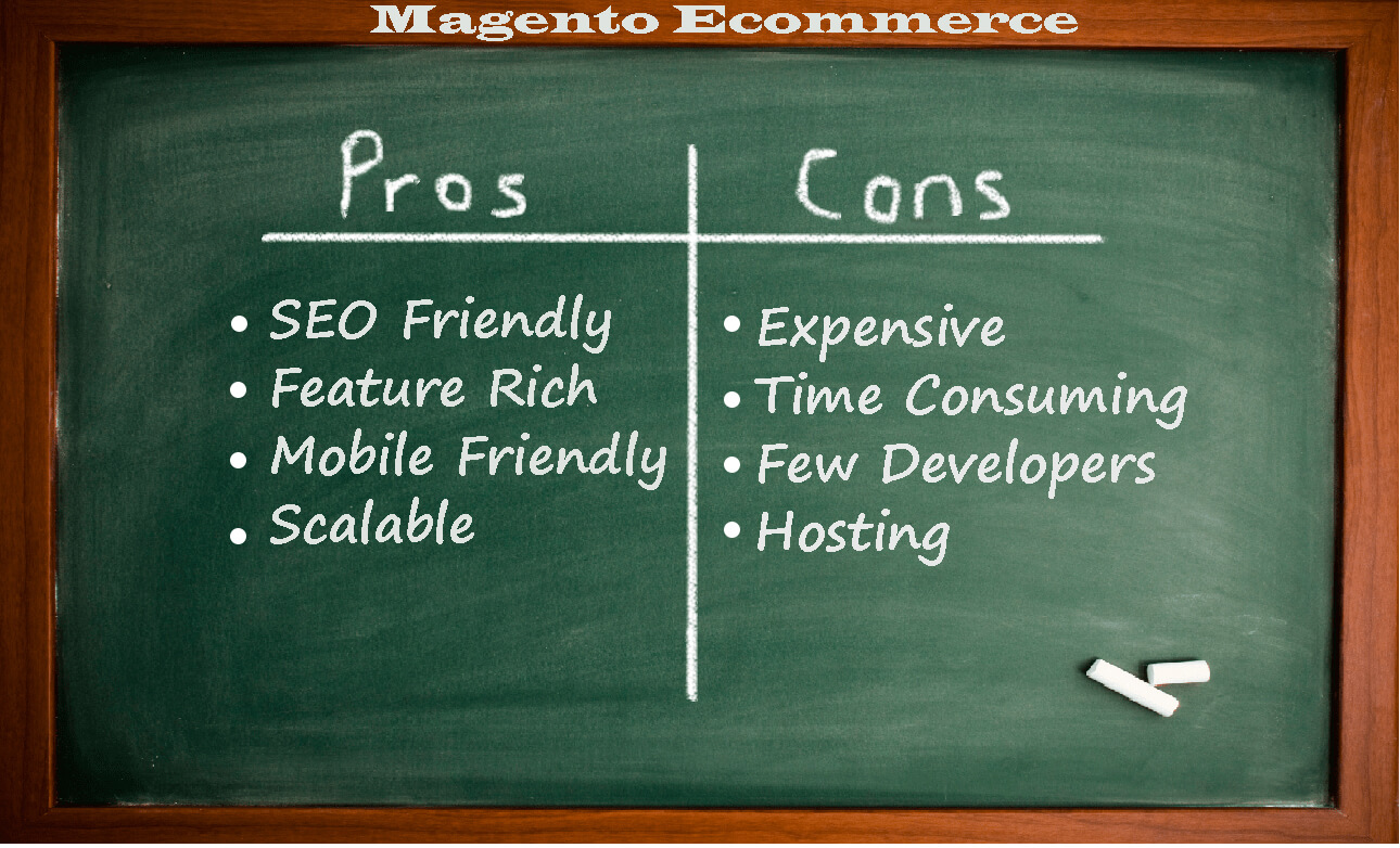 PROS AND CONS OF MAGENTO ECOMMERCE